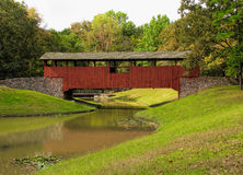 Burns Park Covered Bridge 1 Stock Images
