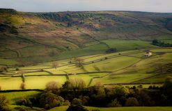 Burnsall Fields, Yorkshire Dales stock photos