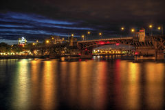 Burnside Bridge across Willamette River Portland Royalty Free Stock Image