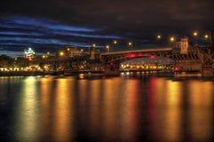 Burnside Bridge across Willamette River Portland Royalty Free Stock Image