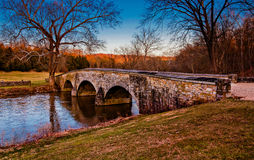 Burnside Bridge, at Antietam National Battlefield, Maryland. Stock Image