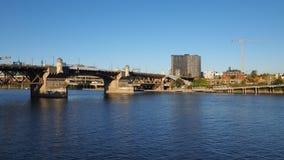 Burnside Bridge, Portland, Oregon. stock images