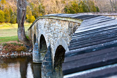 Closeup View of Burnside Bridge at Antietam stock image