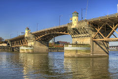 Burnside Bridge Willamette River Portland Oregon 2 Stock Images
