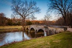 Burnside bro, på Antietam den nationella slagfältet, Maryland Royaltyfri Bild