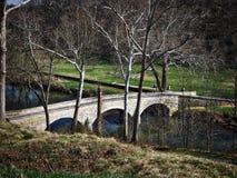 Burnside most, Antietam Krajowy pole bitwy, Maryland Zdjęcia Stock