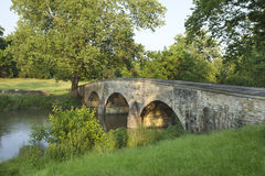 Burnside's Bridge at Antietam (Sharpsburg) Battlefield in Maryla. Burnside's Bridge at the Antietam (Sharpsburg) Battlefield in Maryland. This view is from the Stock Images