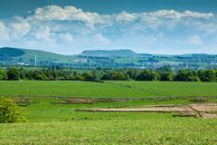 Burnswark wzgórze blisko Lockerbie, Szkocja obrazy royalty free