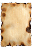 Burnt aged texture paper Royalty Free Stock Photos