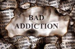 Burnt Bad Addiction Stock Photography
