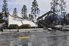 Burnt banks in La Mesa California after riots