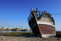 Burnt Boat Royalty Free Stock Images