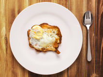Burnt breakfast Royalty Free Stock Photo