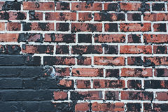 Burnt brick wall texture Royalty Free Stock Photos