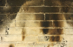 Burnt Brickwall Royalty Free Stock Photos