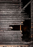 Burnt broken wood wall Royalty Free Stock Image