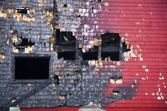 Burnt Building. A building still stands after a fire Royalty Free Stock Photo