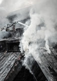 Burnt building Royalty Free Stock Photos