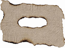 Burnt canvas Royalty Free Stock Photography