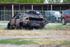 Burnt Car Stock Photo