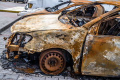 Burnt car Stock Images