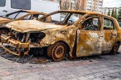 Burnt car Stock Photos