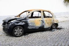 Burnt car Royalty Free Stock Image