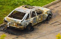 Burnt Car Stock Image