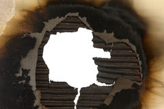 Burnt Cardboard Frame Royalty Free Stock Photography