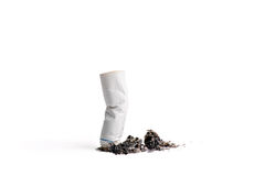 Burnt cigarette Stock Images