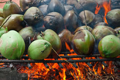 Burnt coconuts Royalty Free Stock Photos