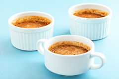 Burnt cream , french dessert with chocolate Royalty Free Stock Photography