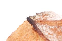 Burnt crust of bread. Royalty Free Stock Images