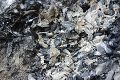 Burnt debris. Burned debris of different materials Stock Photography