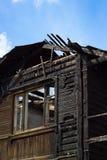 Burnt dom Zdjęcie Royalty Free
