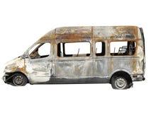 Burnt down bus Stock Photos
