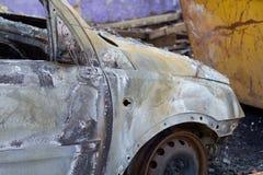 Burnt down car Stock Photos