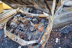 Burnt down car Stock Photos