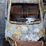 Burnt down car Stock Photography
