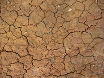 Burnt Earth. Scorced earth orange soil cracks Stock Photo