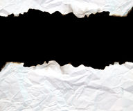 Burnt edge paper frame Royalty Free Stock Photo