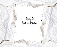 Burnt edge paper frame Royalty Free Stock Photography