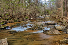 Burnt Fork Creek in Atlanta, GA Stock Photo