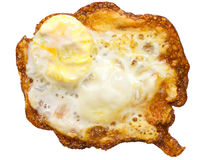 Burnt fried egg Stock Photos