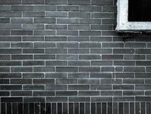 Burnt gliniany ściana z cegieł Zdjęcia Stock
