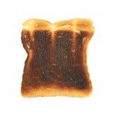 Burnt grzanka chleb odizolowywający Fotografia Stock