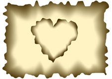 Burnt heart shaped paper Royalty Free Stock Photography