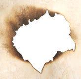 Burnt hole Royalty Free Stock Photography
