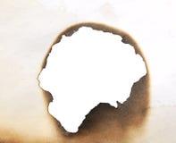 Burnt hole Stock Image