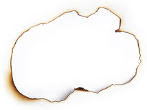 Burnt hole of paper Royalty Free Stock Images